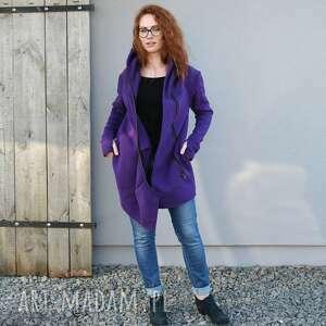 intrygujące płaszcze bluza asymetryczna, płaszczyk