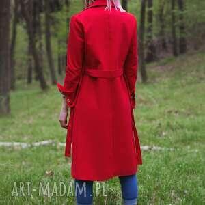 trench płaszcze czerwony