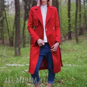 eleganckie płaszcze wiosenny czerwony