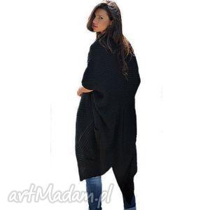 ciepły płaszcze długi sweter-płaszcz