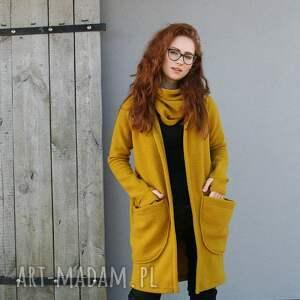 płaszcze sweter wdzianko wełniane, kardigan