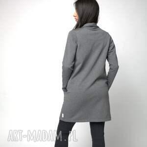 eleganckie płaszcze bawełna kardigan narzutka z kieszeniami