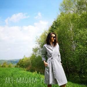 marine płaszcze białe kimono damskie - płaszcz - sukienka