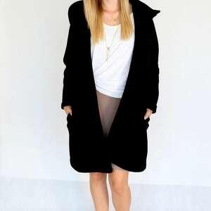unikalne płaszcze bawełna l - xl płaszcz z kapturem czarny