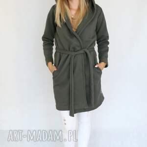 płaszcze bawełna l - xl płaszcz z kapturem