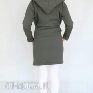 bawełna płaszcze l - xl płaszcz z kapturem