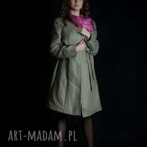 atrakcyjne płaszcze płaszcz lniany