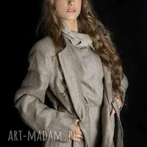 atrakcyjne płaszcze lniany płaszcz