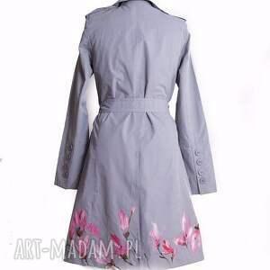 kobiecy płaszcze malowany ręcznie wiosenny