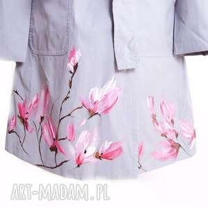 ręcznie wykonane płaszcze płaszcz malowany wiosenny