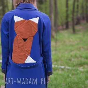 urokliwe płaszcze trench niebieski lis
