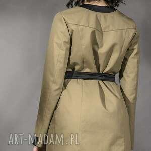 płaszcze płaszcz oliwkowy trencz