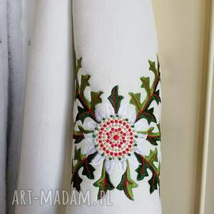 wyraziste piękny kożuch folk design