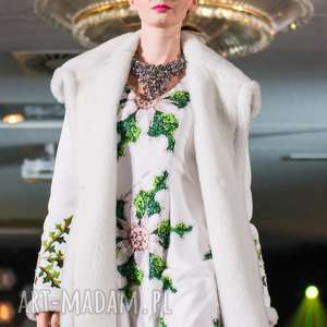 płaszcze piękny kożuch folk design