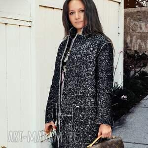 oryginalne płaszcze melanż płaszcz damski oversize jesionka l
