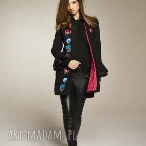 frapujące płaszcze płaszcz wełniany haftowany uszyty z wysokiej jakości