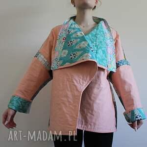 płaszcze płaszcz patchworkowy - waciak