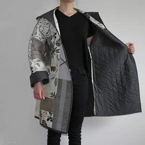 ciekawe płaszcze płaszcz patchworkowy długi