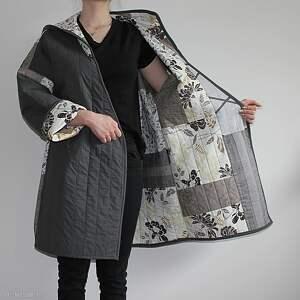 płaszcz płaszcze patchworkowy długi