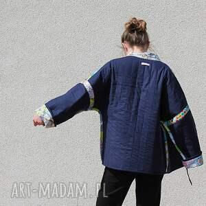 patchwork płaszcze płaszcz patchworkowy z wiązaniem