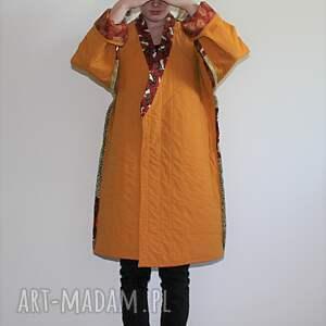 eleganckie płaszcze orientalny płaszcz patchworkowy długi