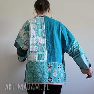 płaszcze patchwork płaszcz patchworkowy - waciak
