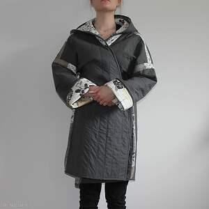 płaszcze waciak płaszcz patchworkowy długi