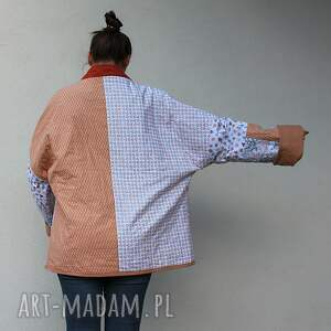 ręcznie zrobione płaszcze waciak płaszcz patchworkowy