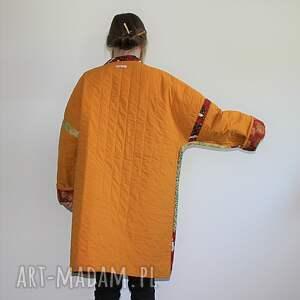 orientalny płaszcze płaszcz patchworkowy długi