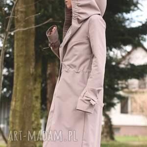 hand-made płaszcze kaptur płaszcz przeciwdeszczowy beżowy