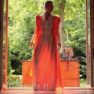 Płaszcz przeciwdeszczowy Pomarańczowy kaptur