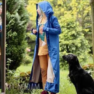 płaszcze: Płaszcz przeciwdeszczowy Chabrowy - kaptur wodoodporny