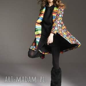 MoRe Fashion płaszcze płaszcz w kwiaty stefania 2145