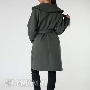 khaki płaszcze płaszcz z ciepłym kołnierzem