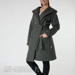 płaszcze khaki płaszcz z ciepłym kołnierzem