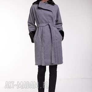 szare płaszcze moda płaszcz leonor