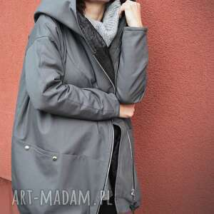Agagu efektowne płaszcze jesienny płaszcz szary oversize ogromny