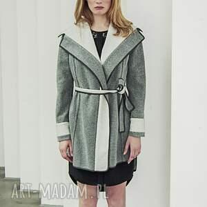 ręcznie zrobione płaszcze trencz wełniany, dwustronny płaszcz