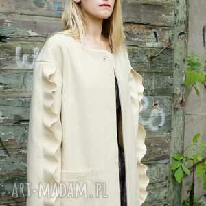 intrygujące płaszcze wełniany płaszcz ecru