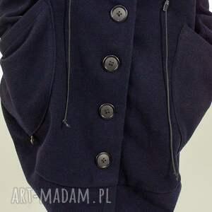 płaszcze maxi wełniany płaszcz zapinany na guziki