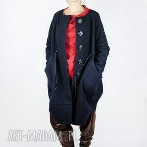 maxi płaszcze wełniany płaszcz zapinany na guziki