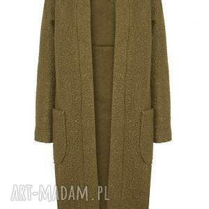 khaki płaszcze wełniany sweter/płaszcz z psem