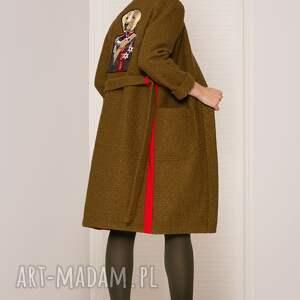 hand-made płaszcze płaszcz wełniany sweter/płaszcz z psem