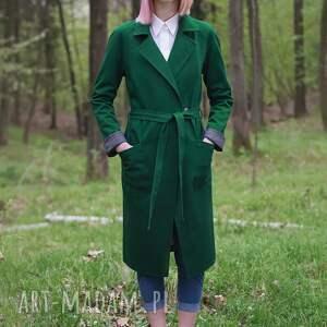 niekonwencjonalne płaszcze niedźwiedź zielony płaszcz z grubej bawełnianej tkaniny