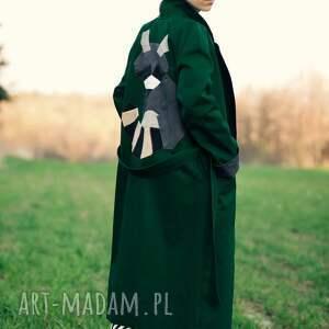 płaszcze: Zielony Szop - butelkowa