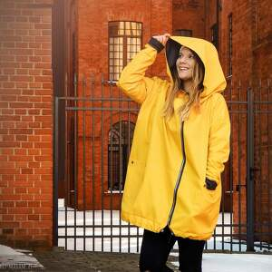 ręczne wykonanie płaszcze żółty płaszcz oversize ogromny