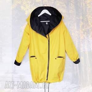 ręczne wykonanie płaszcze kurtka parka żółty płaszcz oversize ogromny