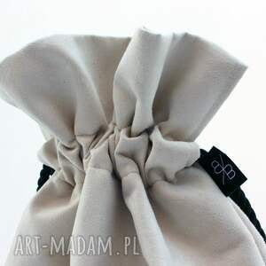beżowe plecak bbag aksamit koronka worek