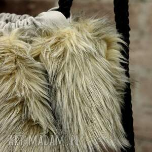 awangardowe plecaki futerko bbag grey wind plecak worek