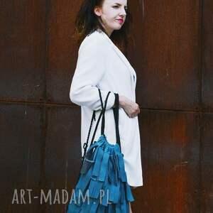 hand-made plecaki worek bbag strip plecak skórzany